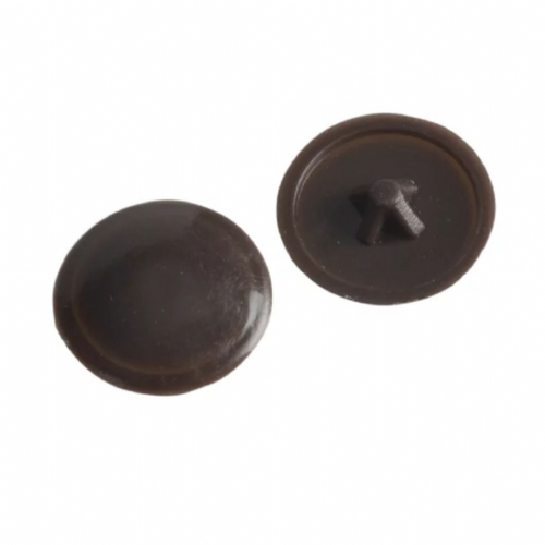 ForgeFix 100PCC1 Pozi Push On Screw Cover Caps Dark Brown No.6 - 8 Bag of 100